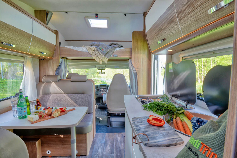 SkandiTrip family luxury motorhome alcove doublebed