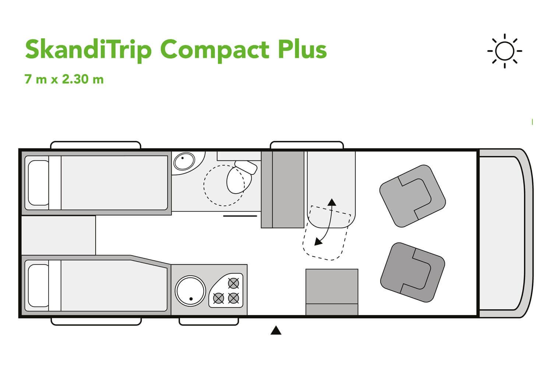 SkandiTrip camping car nighttime blueprint